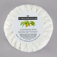 Lord & Mayfair 1.5 oz. Pleat Wrapped Luxury White Cleansing Soap Bar - 288/Case