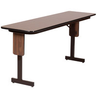 Correll SP2496PX 24 inch x 96 inch Rectangular High Pressure Folding Seminar Table with Panel Leg