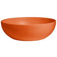G.E.T. Enterprises BRD18-MOD-TG Bugambilia 15.9 Qt. Smooth MOD Finish Tangerine Resin-Coated Aluminum Extra Large Deep Round Bowl
