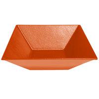G.E.T. Enterprises BSD16TG Bugambilia 13.5 Qt. Classic Textured Finish Tangerine Resin-Coated Aluminum XL Deep Square Bowl