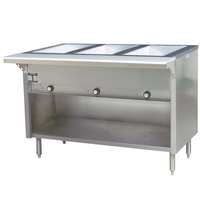 Eagle Group HT3OB Natural Gas Steam Table with Enclosed Base 10,500 BTU - Three Pan - Open Well