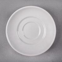 Syracuse China 999023500 Rigel Constellation 6 inch Round Lunar Bright White Porcelain Saucer - 36/Case