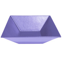 G.E.T. Enterprises BSD16-MOD-LV Bugambilia 13.5 Qt. Smooth MOD Finish Lavender Resin-Coated Aluminum XL Deep Square Bowl