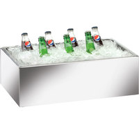 Cal-Mil 473-18-24 Mirror Finish Acrylic Ice Housing with Clear Pan - 26 inch x 18 inch x 6 inch