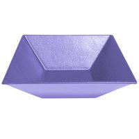 G.E.T. Enterprises BSD16LV Bugambilia 13.5 Qt. Classic Textured Finish Lavender Resin-Coated Aluminum XL Deep Square Bowl