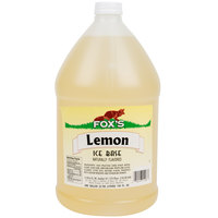 Fox's Lemon Italian Ice Syrup Base - (4) 1 Gallon Containers / Case