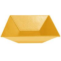 G.E.T. Enterprises BSD16-MOD-YW Bugambilia 13.5 Qt. Smooth MOD Finish Yellow Resin-Coated Aluminum XL Deep Square Bowl