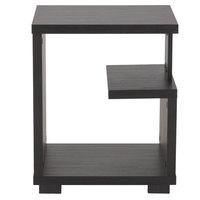 Flash Furniture EV-ST-4438-00-GG Morristown Espresso End Table - 15 1/4 inch x 15 1/4 inch x 18 1/2 inch