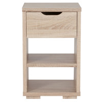 Flash Furniture EV-ST-6140-00-GG Howell Sonoma Oak Woodgrain End Table with 1 Drawer - 15 3/4 inch x 15 1/4 inch x 25 1/4 inch