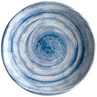Elite Global Solutions D61R Van Gogh Navy 6 1/8 inch Round Melamine Plate - 6/Case