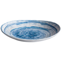 Elite Global Solutions D1181OV Van Gogh Navy 11 inch x 8 3/8 inch Oval Melamine Plate - 6/Case