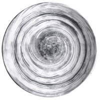 Elite Global Solutions D9138R Van Gogh Black 9 1/2 inch Round Melamine Plate - 6/Case