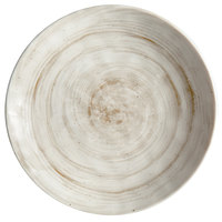 Elite Global Solutions D9138R Van Gogh Taupe 9 1/2 inch Round Melamine Plate - 6/Case