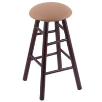Holland Bar Stool XRC24MSDCALBeWd Big & Tall 24 inch Dark Cherry Maple Counter Height Stool With Allante Beechwood Swivel Seat And Smooth Legs