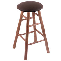 Holland Bar Stool XRC24MSMedReiCof Big & Tall 24 inch Medium Maple Counter Height Stool With Rein Coffee Swivel Seat And Smooth Legs