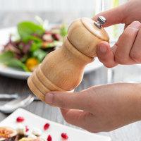 Choice 4 inch Natural Wooden Salt / Pepper Mill