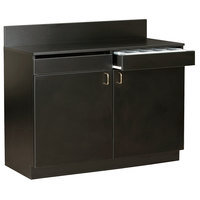 48 inch Black Waitress Station with 2 Drawers, 2 Adjustable Shelves, and 2 Doors