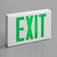 Lavex Industrial Green LED Exit Sign with Adjustable Arrows and Ni-Cad Battery Backup - 1.8 Watt Unit