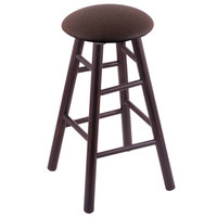 Holland Bar Stool XRC24MSDCReiCof Big & Tall 24 inch Dark Cherry Maple Counter Height Stool With Rein Coffee Swivel Seat And Smooth Legs