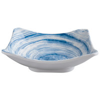 Elite Global Solutions D712SQ Van Gogh Navy 22 oz. Square Melamine Bowl - 6/Case