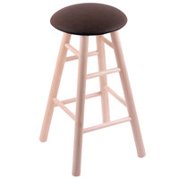 Holland Bar Stool XRC24MSNatReiCof Big & Tall 24 inch Natural Maple Counter Height Stool With Rein Coffee Swivel Seat And Smooth Legs