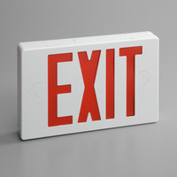 Lavex Industrial Red LED Exit Sign with Adjustable Arrows and Ni-Cad Battery Backup - 1.8 Watt Unit