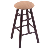 Holland Bar Stool XRC24MSDCAxsSum Big & Tall 24 inch Dark Cherry Maple Counter Height Stool With Axis Summer Swivel Seat And Smooth Legs