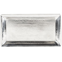 American Metalcraft HMRT1019 18 inch x 9 3/4 inch Rectangle Hammered Stainless Steel Tray