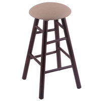 Holland Bar Stool XRC24MSDCReiTha Big & Tall 24 inch Dark Cherry Maple Counter Height Stool With Rein Thatch Swivel Seat And Smooth Legs