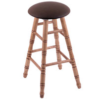 Holland Bar Stool XRC24MTMedReiCof Big & Tall 24 inch Medium Maple Counter Height Stool With Rein Coffee Swivel Seat And Turned Legs