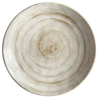 Elite Global Solutions D8125R Van Gogh Taupe 8 1/2 inch Round Melamine Plate - 6/Case
