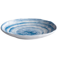 Elite Global Solutions D861OV Van Gogh Navy 8 3/4 inch x 6 1/2 inch Oval Melamine Plate - 6/Case