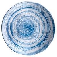 Elite Global Solutions D110R Van Gogh Navy 10 1/8 inch Round Melamine Plate - 6/Case