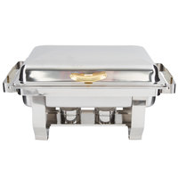 Choice Deluxe 9 Qt. Full Size Hinged Top Gold Accent Chafer