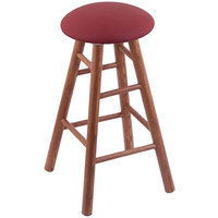 Holland Bar Stool XRC24OSMEDALWINE Big & Tall 24 inch Medium Oak Counter Height Stool With Allante Wine Swivel Seat And Smooth Legs