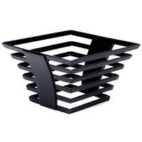 Cal-Mil 1465-5-13 Black Metal Elevation Riser - 8 inch x 8 inch x 5 inch