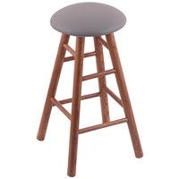 Holland Bar Stool XRC24OSMEDALMDGR Big & Tall 24 inch Medium Oak Counter Height Stool With Allante Medium Grey Swivel Seat And Smooth Legs