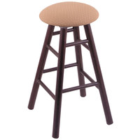 Holland Bar Stool XRC24OSDCAXSSUM Big & Tall 24 inch Dark Cherry Oak Counter Height Stool With Axis Summer Swivel Seat And Smooth Legs