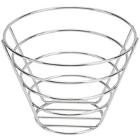 American Metalcraft 705NH Round Chrome Wire Basket without Handles - 7 inch x 5 inch