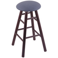 Holland Bar Stool XRC24OSDCREIBAY Big & Tall 24 inch Dark Cherry Oak Counter Height Stool With Rein Bay Swivel Seat And Smooth Legs