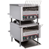 Avatoast T3600B2S Double Stacked Commercial 14 1/2 inch Wide Conveyor Toaster with 3 inch Opening - 208V, 7200W, 2400 Slices per Hour