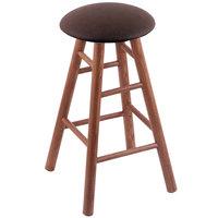 Holland Bar Stool XRC24OSMEDREICOF Big & Tall 24 inch Medium Oak Counter Height Stool With Rein Coffee Swivel Seat And Smooth Legs