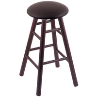 Holland Bar Stool XRC24OSDCALESPR Big & Tall 24 inch Dark Cherry Oak Counter Height Stool With Allante Espresso Swivel Seat And Smooth Legs