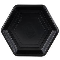 Genpak HX009-3L Smart-Set 9 inch Black Hexagonal Shallow Foam Serving Tray - 200/Case