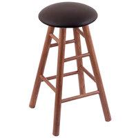 Holland Bar Stool XRC24OSMEDALESPR Big & Tall 24 inch Medium Oak Counter Height Stool With Allante Espresso Swivel Seat And Smooth Legs