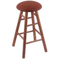 Holland Bar Stool XRC24OSMEDREIADO Big & Tall 24 inch Medium Oak Counter Height Stool With Rein Adobe Swivel Seat And Smooth Legs