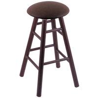 Holland Bar Stool XRC24OSDCREICOF Big & Tall 24 inch Dark Cherry Oak Counter Height Stool With Rein Coffee Swivel Seat And Smooth Legs