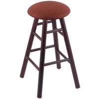 Holland Bar Stool XRC24OSDCREIADO Big & Tall 24 inch Dark Cherry Oak Counter Height Stool With Rein Adobe Swivel Seat And Smooth Legs