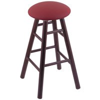 Holland Bar Stool XRC24OSDCALWINE Big & Tall 24 inch Dark Cherry Oak Counter Height Stool With Allante Wine Swivel Seat And Smooth Legs