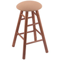 Holland Bar Stool XRC24OSMEDAXSSUM Big & Tall 24 inch Medium Oak Counter Height Stool With Axis Summer Swivel Seat And Smooth Legs
